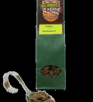 Kürbiskerne mit Kaffee