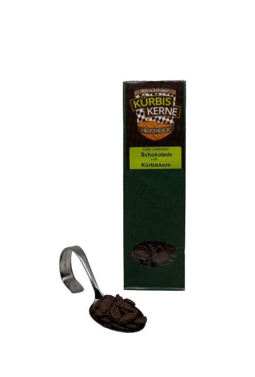 Kürbiskerne mit Zartbitterschokolade