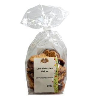 Dinkelhäschen mit Vollmilchschokolade